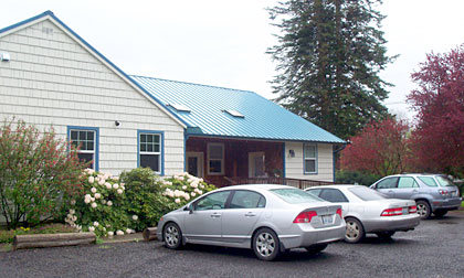Quilcene Historical Museum building parking area